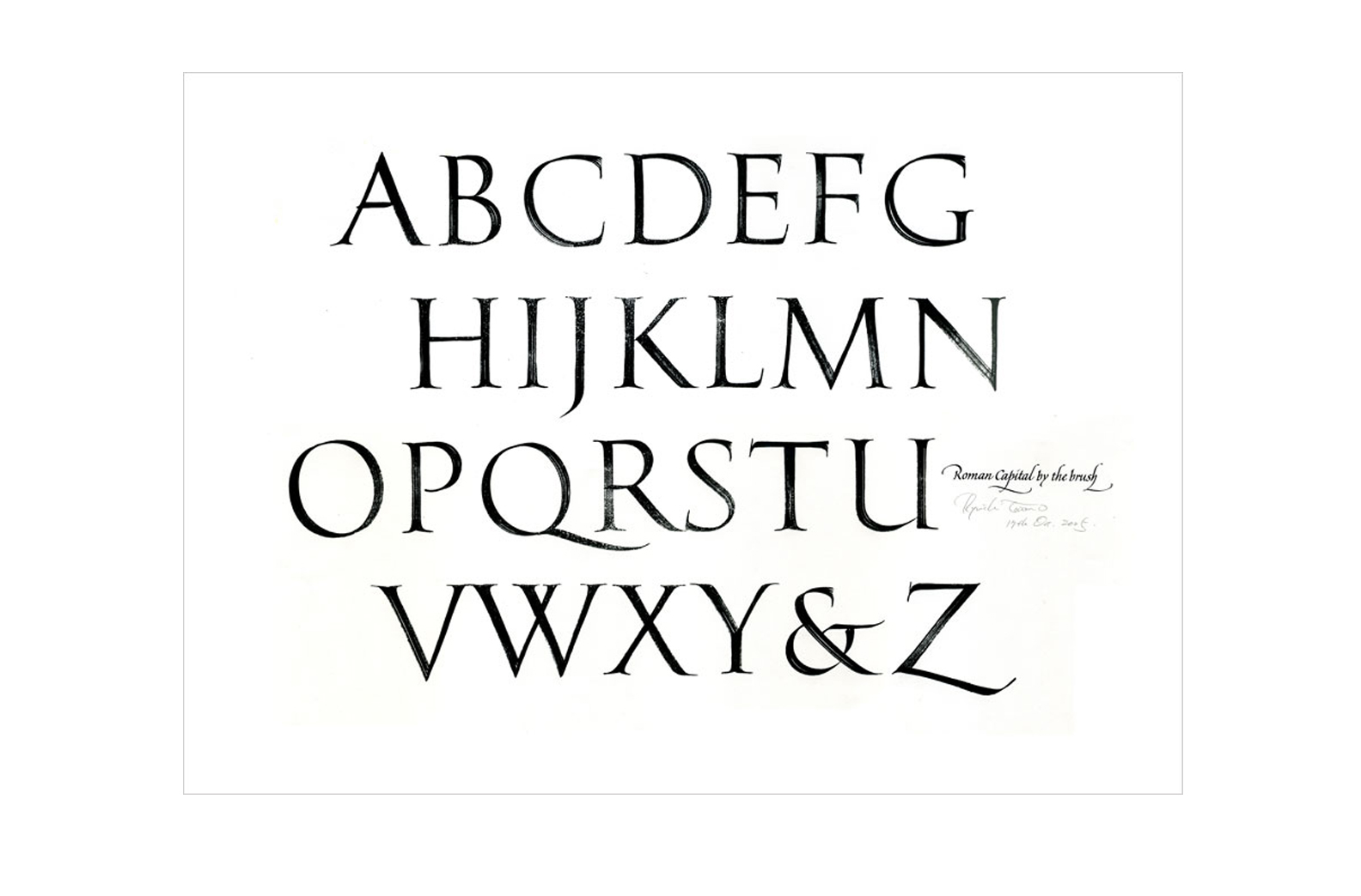 Roman Capitals by the brush