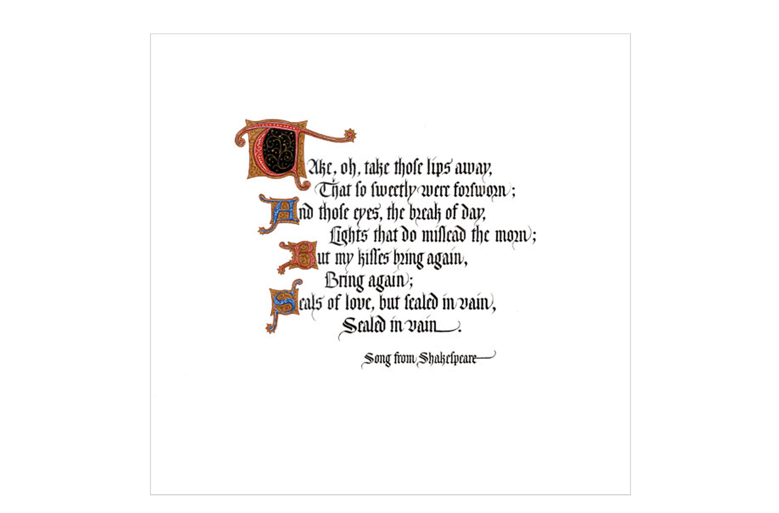 Song from Shakespeare