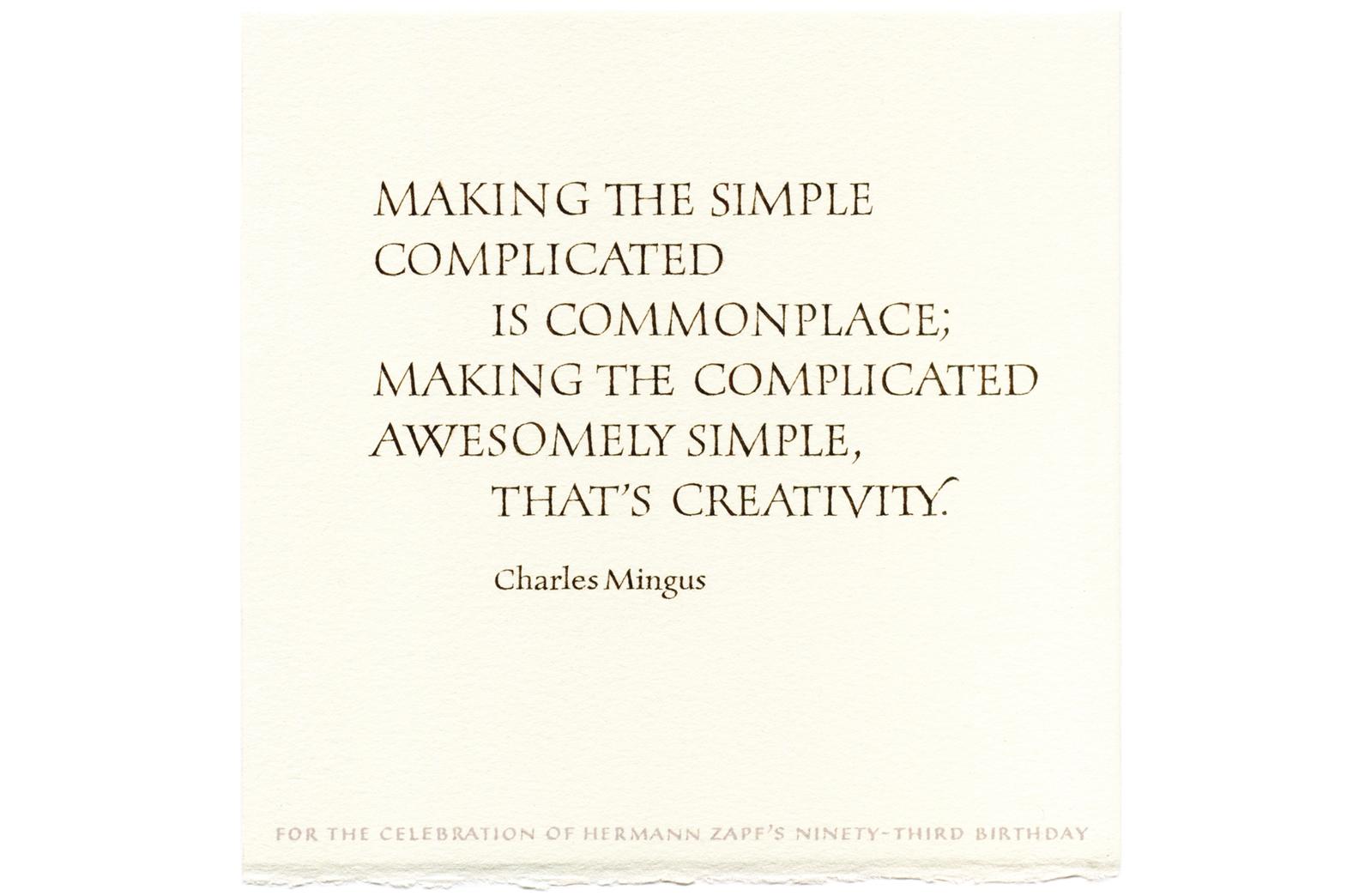 Charles Mingus's word