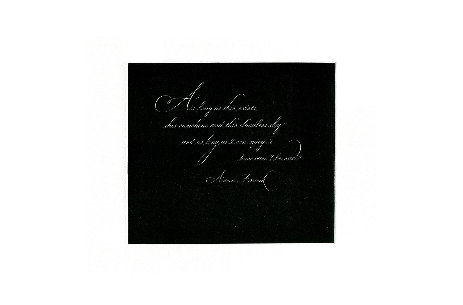 Anne Frank's word