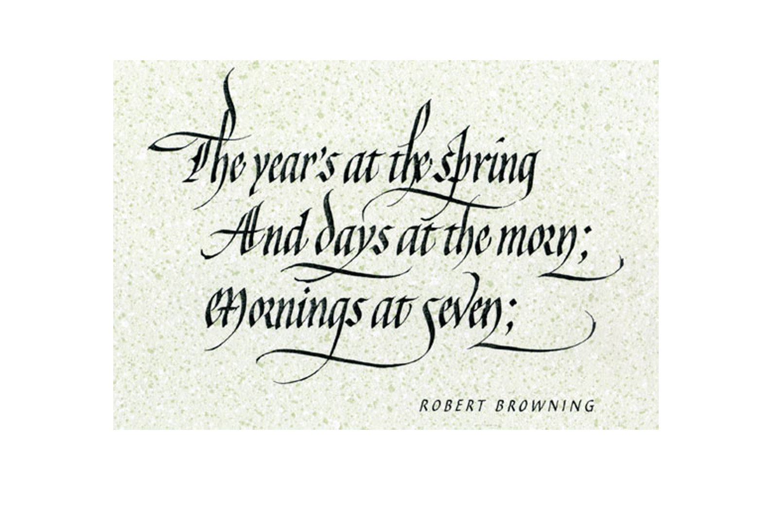 Robert Browning's word